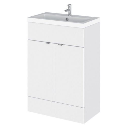 Elite Grey Gloss 600mm Vanity Unit & Basin (355mm Deep)